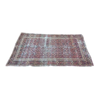 Antique Persian Country Style Area Rug - 4′ × 6′4″ For Sale