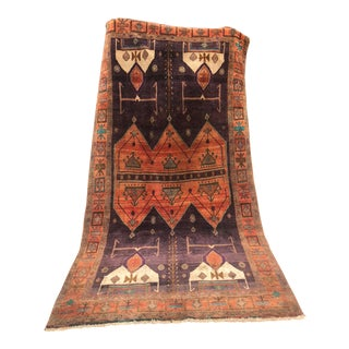 Antique 1930s Persian Karacheh Serapi Heriz Rug - 5′ × 9′9″