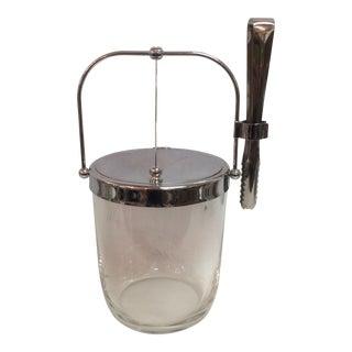 Sasaki Mid-Century Ice Bucket & Tongs For Sale
