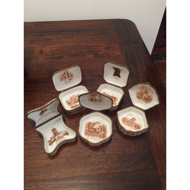 Vintage Porcelain De Paris Boxes - Set of 5 For Sale - Image 10 of 12