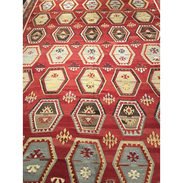 1920s Turkish Kilim - 8′1″ × 11′9″ - Image 4 of 8
