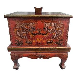 Circa 1870 Burmese Buddhist Tripitaka Lacquered Wood Box (Mandalay Period) For Sale
