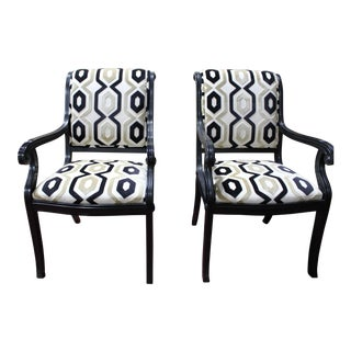 Bau Hollywood Regency Arm Chairs Empire Tuscano Collection- A Pair For Sale