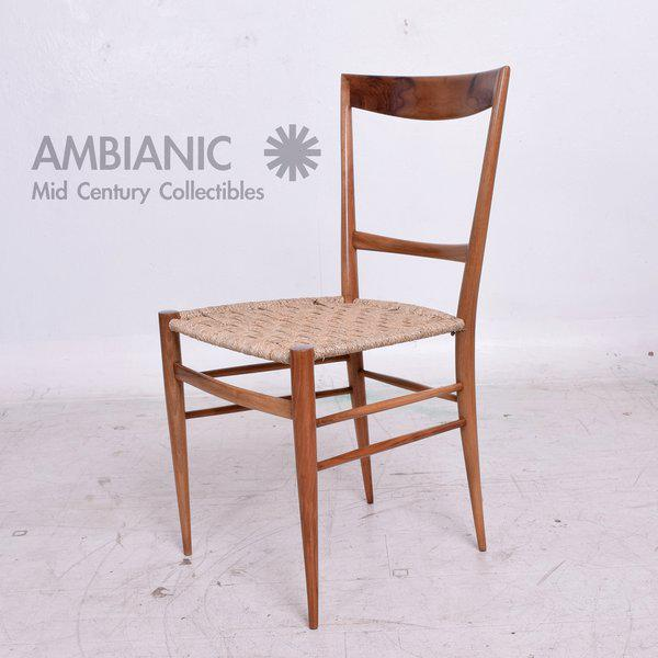 Set Of Eight Italian Superleggera Dining Chairs Attributed To Gio Ponti    Image 4 Of 8