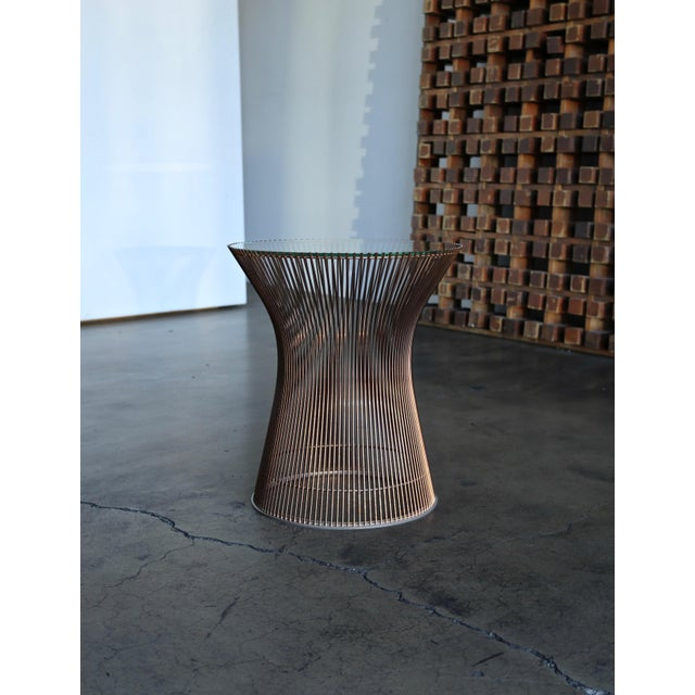 Rare copper occasional / side table by Warren Platner for Knoll. circa 1965