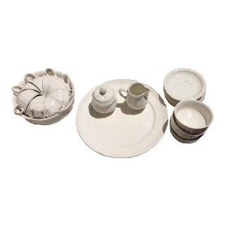 Villeroy & Boch White Manoir Porcelain Dinnerware - Set of 23 For Sale