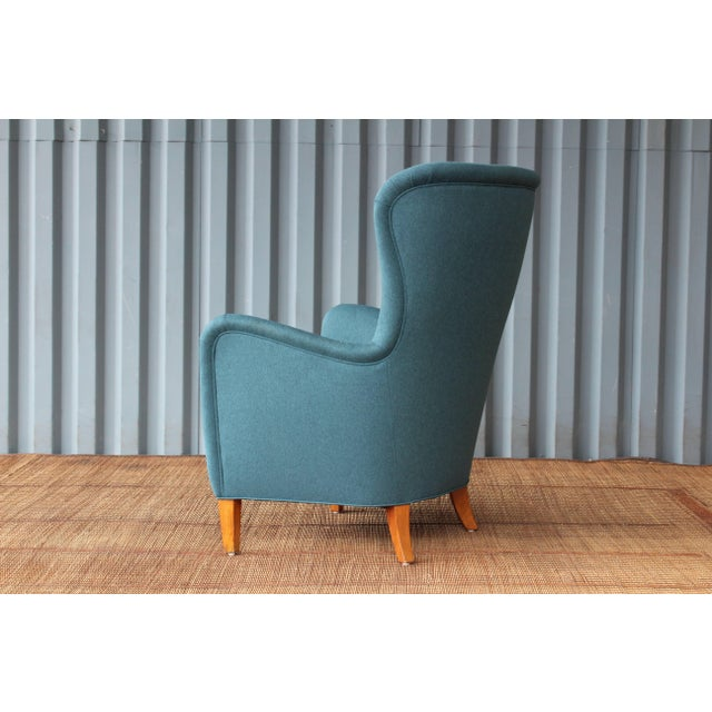1940s Dark Teal Armchair by Ernest Race, 1940s, England For Sale - Image 5 of 9