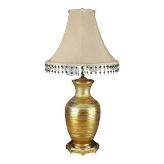 Antique Durand Slip Trail Art Glass Lamp, Circa 1920 For Sale