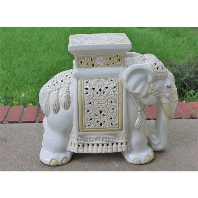 Mid-Century Elephant Garden Seat Stool - Image 7 of 10