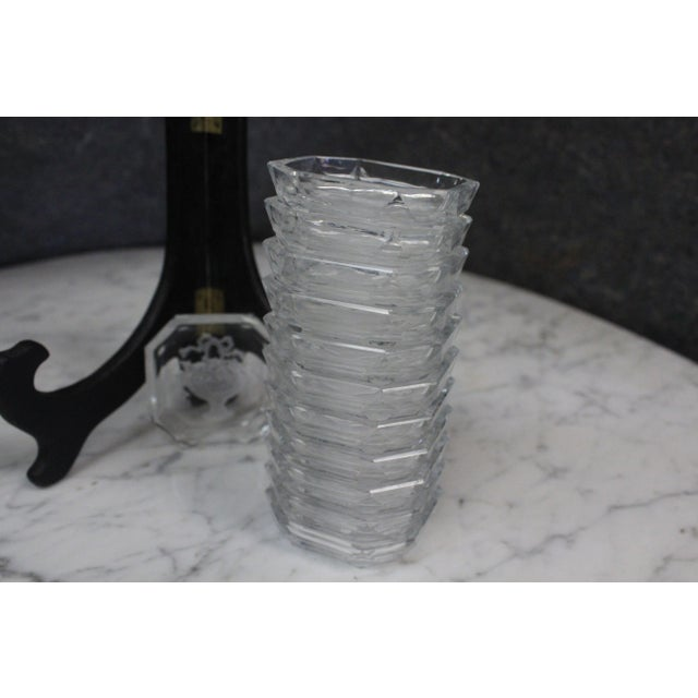Traditional Vintage Mid-Century Crystal Salts - Set of 12 For Sale - Image 3 of 7