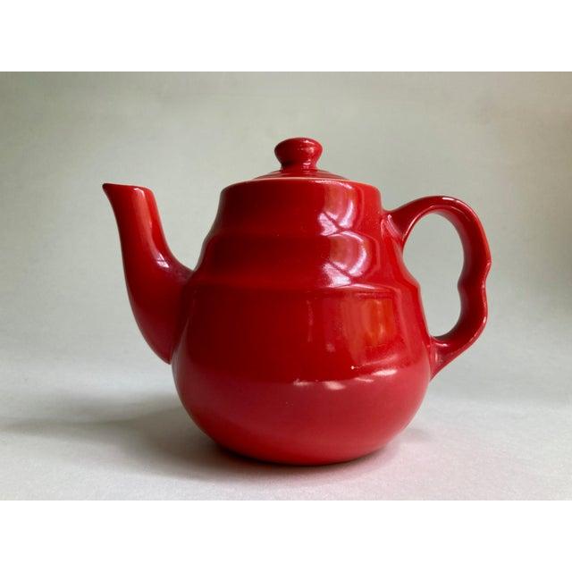 Ceramic Universal Cambridge Red Ceramic Beehive Tea Pot For Sale - Image 7 of 13