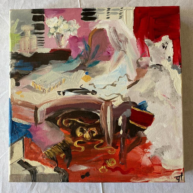 """Abstract Original Contemporary Abstract Painting """"Big Day"""" For Sale - Image 3 of 3"""