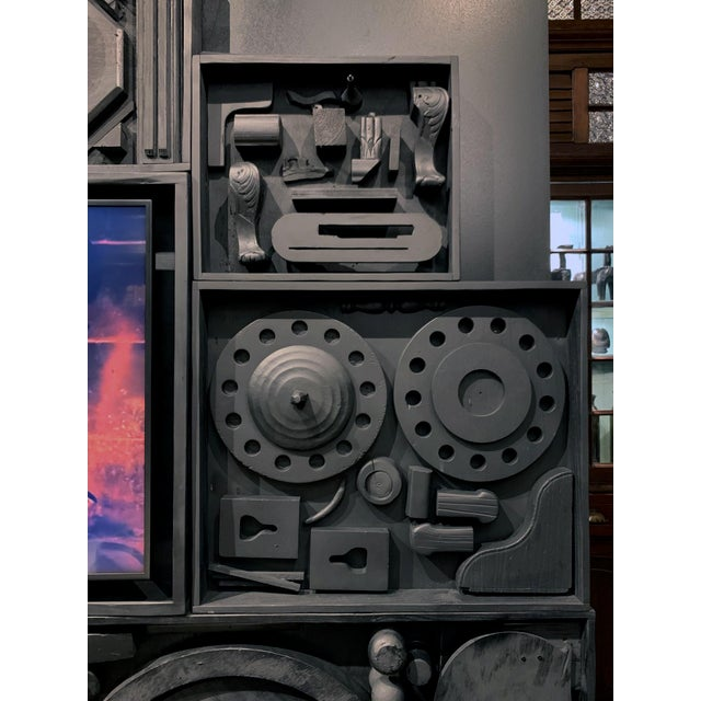 Black Gt Atelier Custom Tv Art Wall by the Golden Triangle Chicago For Sale - Image 8 of 13