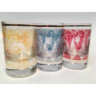 Vintage Etched Glass Shot Cocktail Glasses - Set of 5 Preview