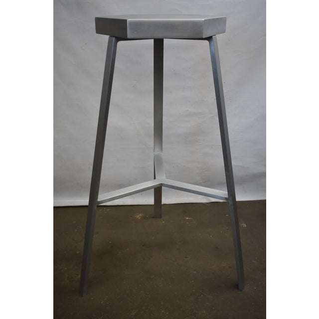 2010s Modern Aluminum Bar Stool For Sale - Image 5 of 5