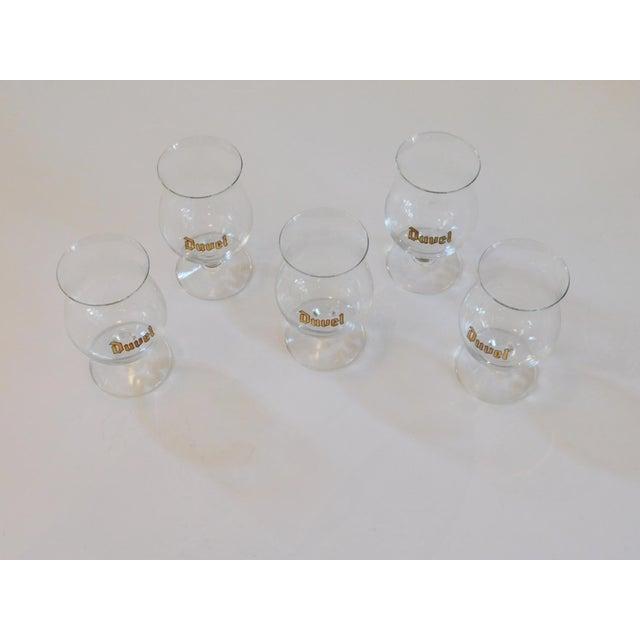 1980s Duvel Snifter Beer Glasses - Set of 5 For Sale - Image 5 of 5