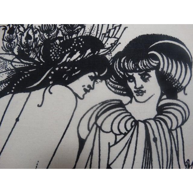 Aubrey Beardsley Illustration Pillow - Image 3 of 5
