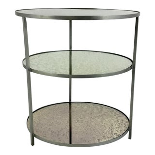 Arteriors Percy Three Tier Silver Side Table For Sale
