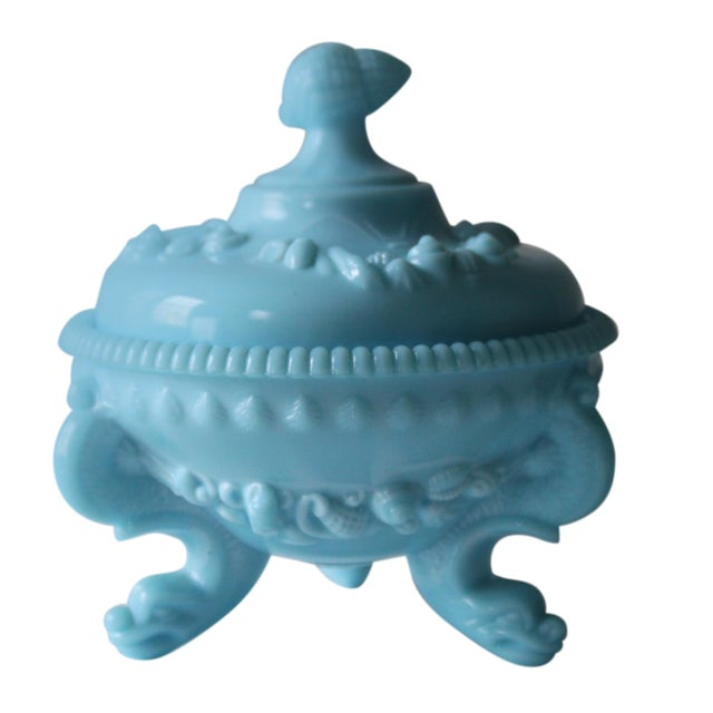 Westmoreland Footed Blue Seashell Candy Dish - Image 1 of 5