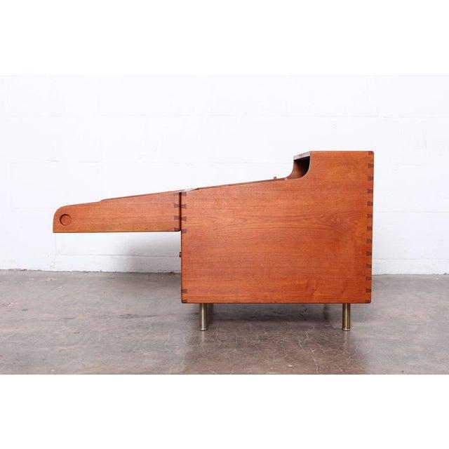 1950s Hans Wegner Teak Cube Bar For Sale - Image 5 of 10