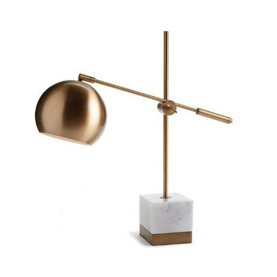Contemporary Graydon Marble & Brass Lamp For Sale - Image 3 of 3