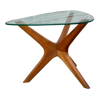 "Adrian Pearsall Sculpted ""Jax"" Walnut Side Table For Sale"