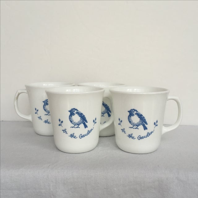 Vintage Blue & White Coffee Cups - Set of 4 - Image 8 of 11