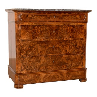 19th-C. Louis Philippe Burl Commode For Sale