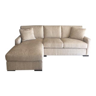 Beige Upholstered Century Sectional For Sale