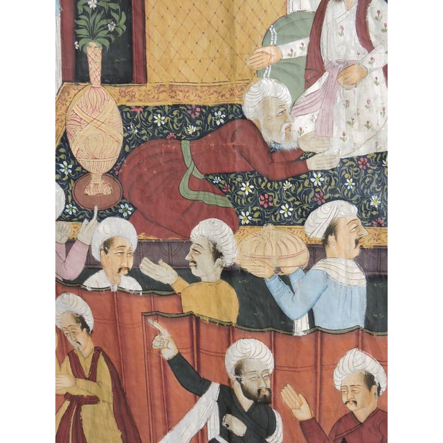 Fine Ottoman Empire Style Silk Wall Hanging, the Ruler's Residence For Sale - Image 4 of 7