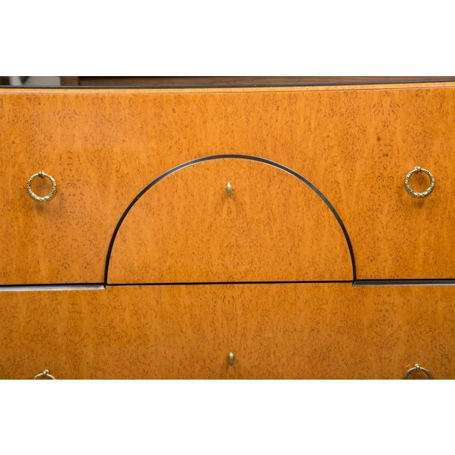 Black Marble Biedermeier Style Chest with Black Granite Top For Sale - Image 7 of 7