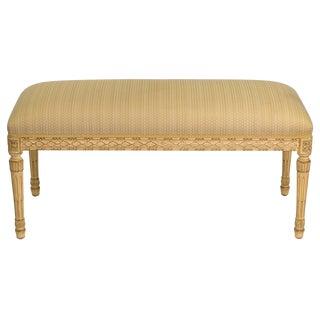 Louis J. Solomon Louis XVI Style Wood Bench For Sale