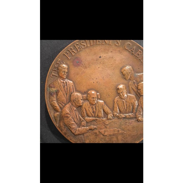 Early 21st Century Maco Ny Bronze Medallion President Paperweight For Sale - Image 5 of 7