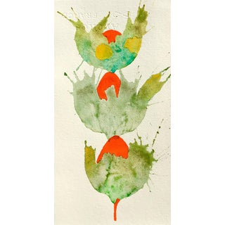 'Triple Botanical' Watercolor Painting For Sale