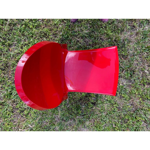 Kartell Victoria Ghost Red Chair Phillip Starck for Kartell For Sale - Image 4 of 8
