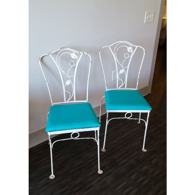 Iron Salterini Magnolia Group Iron Chairs - Set of 4 For Sale - Image 7 of 8