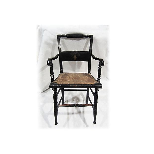 Tole Painted Hitchcock-Style Accent Chair - Image 9 of 9
