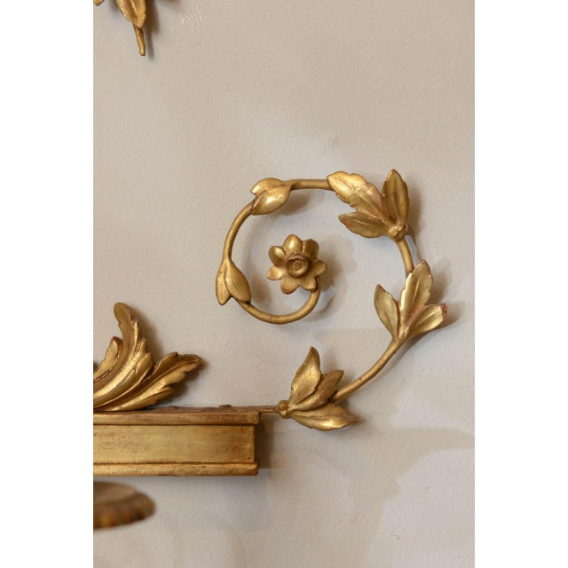 Wood 19th C. Giltwood Mirrored Sconces - a Pair For Sale - Image 7 of 11