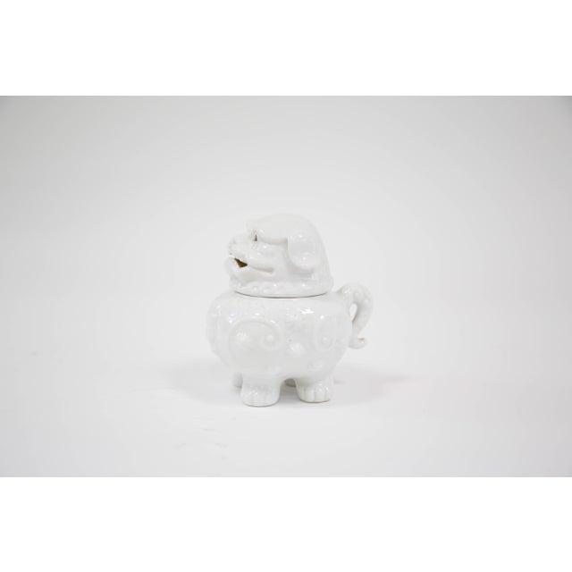 Blanc De Chine Foo Dog Incense Burner - Image 3 of 6