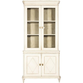 Painted Gustavian-Style Book Cabinet For Sale