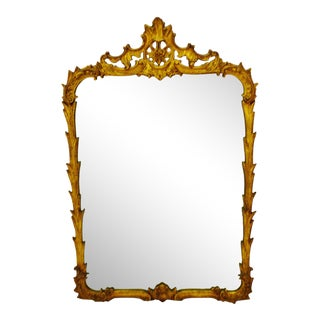 Vintage Gilt Framed Rococo Style J. B. Van Sciver Wall Mirror For Sale