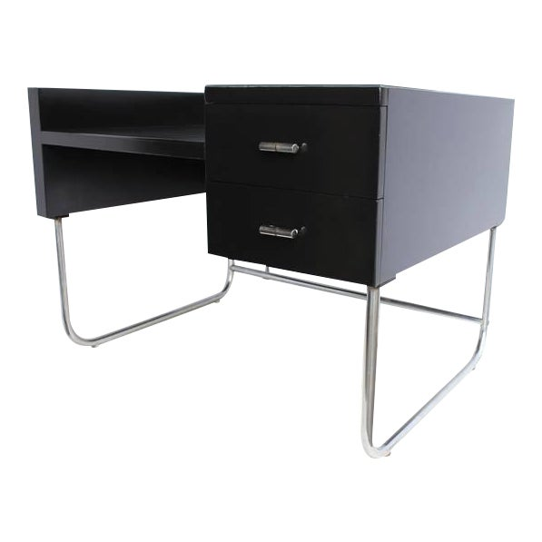 Art Deco Black Lacquered Desk by Wolfgang Hoffmann - Image 1 of 6