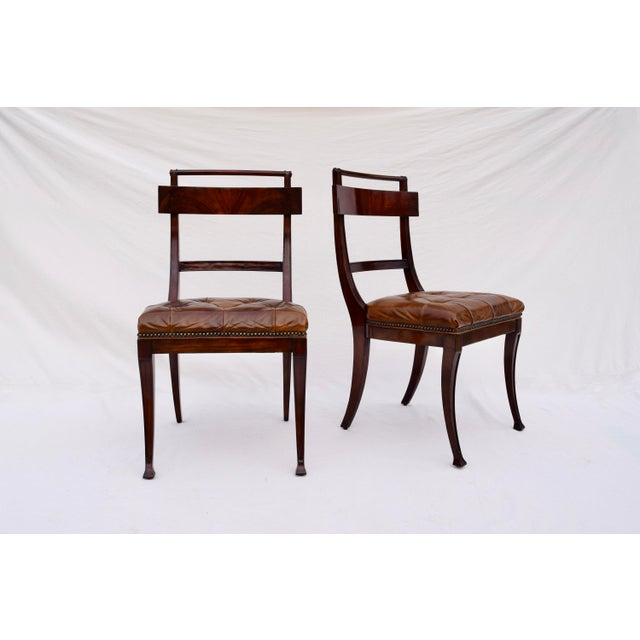 Henredon Hanover Tufted Leather Dining Chairs, Pair For Sale - Image 13 of 13