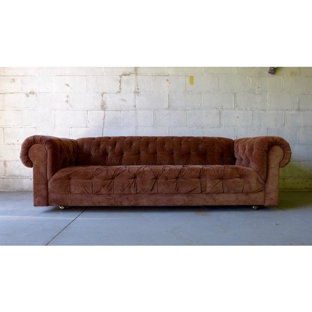 Mid Century Modern Tufted Chesterfield Sofa - Image 2 of 7