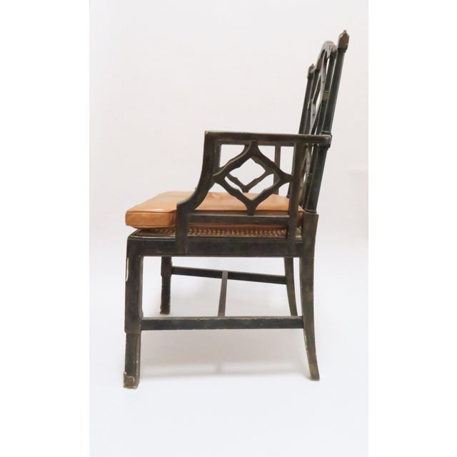 Vintage Chinoiserie Style Wooden Chair - Image 4 of 8