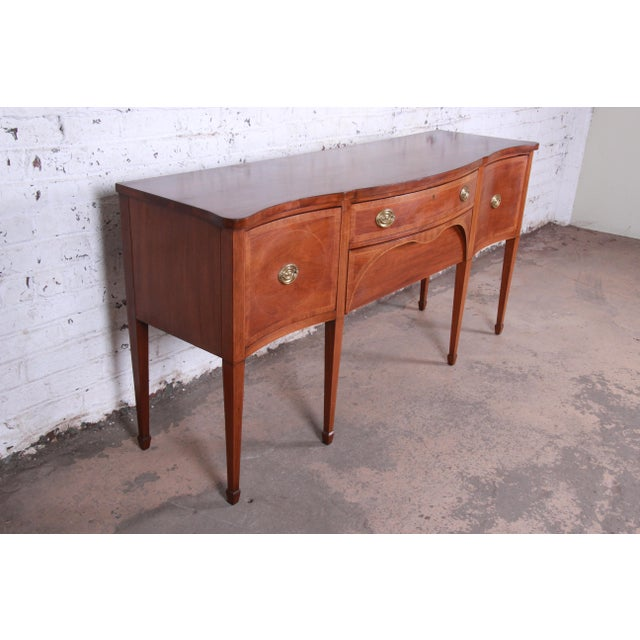 Federal Kittinger Inlaid Mahogany Sideboard Credenza For Sale - Image 3 of 13