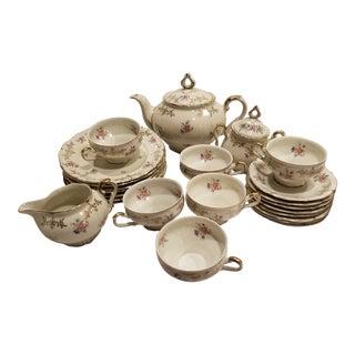 Bavarian Porcelain Tea Set for Six For Sale