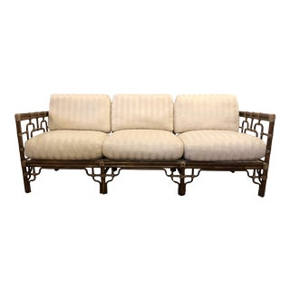 McGuire Marview Asian Inspired Rattan Sofa For Sale