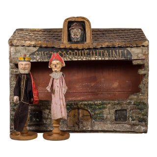 Hand Made French Puppet Theater C.1940 For Sale
