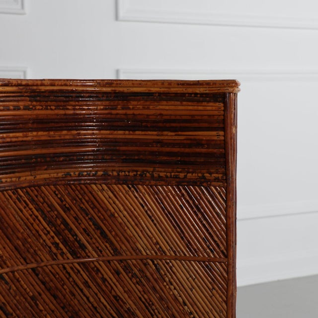Wood Sculptural Split Reed Double Pedestal Dining Table After Gabriella Crespi For Sale - Image 7 of 8